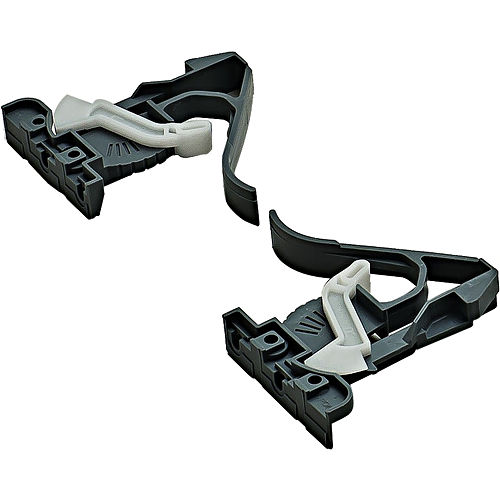 Hafele 421.23.002 Clips for Salice Undermounts Narrow Drawers, Plastic Black