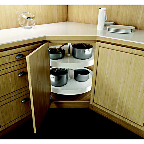 Hafele 542.96.721 Lazy Susan Full Round Set with Telescopic Post 2 Shelf 18