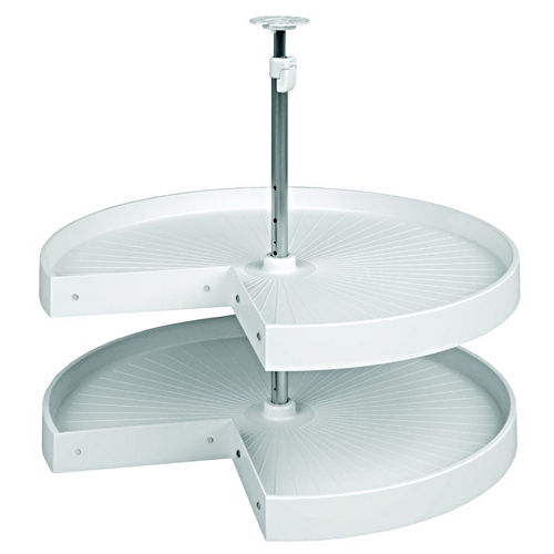 Hafele 542.94.772 Lazy Susan Pie Cut Set with Telescopic Post 2 Shelf 24