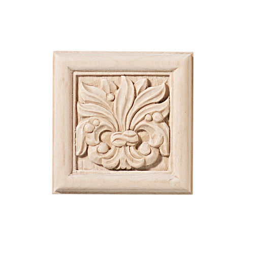 Hafele 198.03.100 Carved Ornament Chateau, Maple