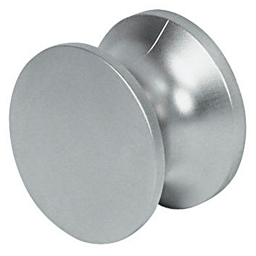 Hafele 229.10.320 Push-Button Knob Solid, Nickel Lacquered