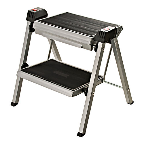 Hafele 505.04.210 Folding Step Stool, Silver
