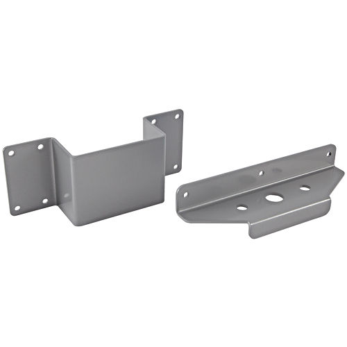 Hafele 630.05.200 Slab End Bracket Set, Silver
