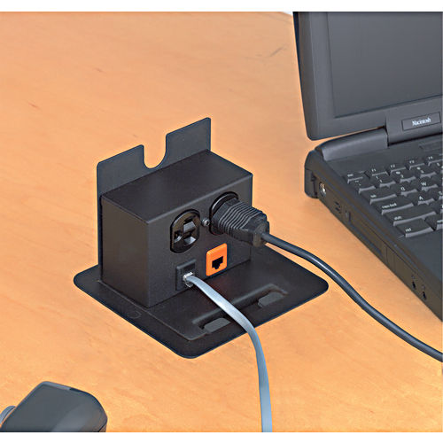 Hafele 822.74.300 Power/Data Outlet, Black Textured
