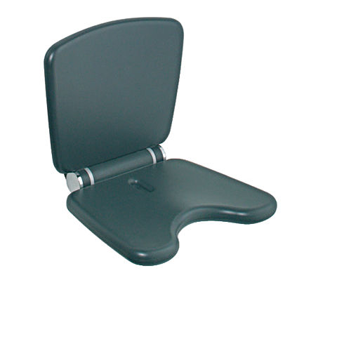 Hafele 988.83.592 Wall Mounted Seat, Polyurethane Anthracite Gray