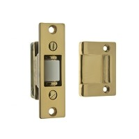 IDH 12017-003 Heavy Duty Silent Roller Latch with Rectangle, Polished Brass