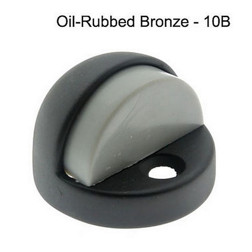 IDH 13070-10B High Dome Stop with Black & Grey Rubber Bumper, Oil-Rubbed Bronze