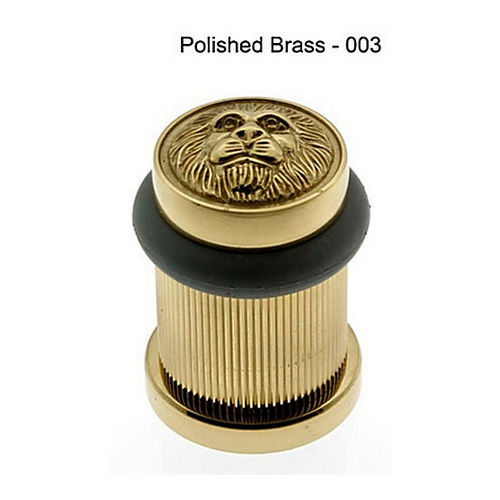 IDH 13090-003 Lion Head Bullet Door Bumper/Stop, Polished Brass