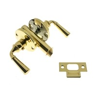 IDH 21252-003 Storm Screen Door Latch (Dual Lever), Polished Brass
