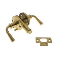IDH 21252-004 Storm Screen Door Latch (Dual Lever), Satin Brass