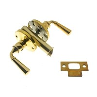 IDH 21252-3NL Storm Screen Door Latch (Dual Lever), Polished Brass