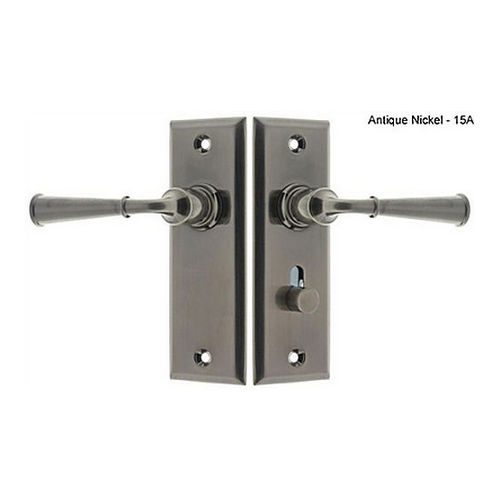 IDH 21262-15A Rectangular Escutcheon Storm Door Latch (Dual Lever), Antique Nickel
