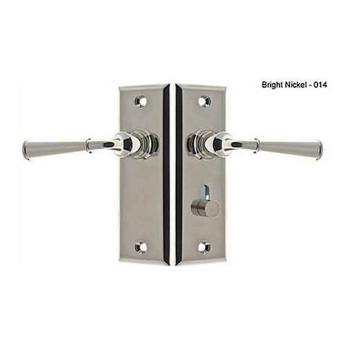 IDH 21262-014 Rectangular Escutcheon Storm Door Latch (Dual Lever), Bright Nickel