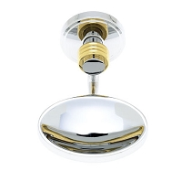 JVJ 23103 Contemporary Series Ribbed Soap Dish, Chrome/Brass