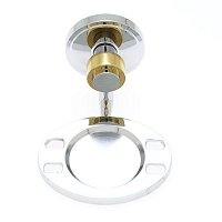 JVJ 23204 Contemporary Series Smooth Tooth./Tum.Holder, Chrome/Brass