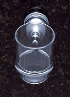 JVJ 23704 Liberty Series Matte Tumbler Holder, Chrome/Polished Chrome