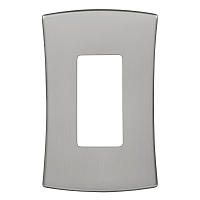 Keeler P31008-9257 Wallplate Single, Solid Stainless Steel