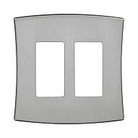 Keeler P31010-9257 Wallplate Double, Solid Stainless Steel
