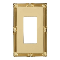 Keeler P31014-9136 Wallplate Single, Polished Brass
