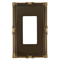 Keeler P31014-9370 Wallplate Single, Authentic Brass