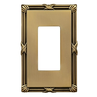 Keeler P31014-9371 Wallplate Single, Winchester Brass