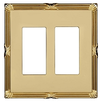 Keeler P31015-9136 Wallplate Double, Polished Brass