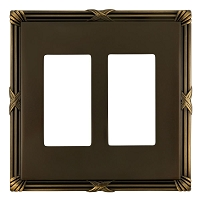 Keeler P31015-9370 Wallplate Double, Authentic Brass