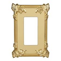 Keeler P31032-9136 Wallplate Single, Polished Brass