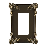 Keeler P31032-9370 Wallplate Single, Authentic Brass