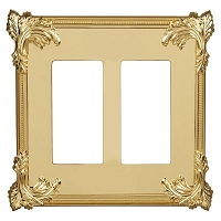Keeler P31033-9136 Wallplate Double, Polished Brass