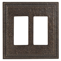 Keeler P31037-9346 Wallplate Double, Antique Satin Bronze