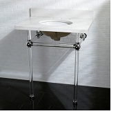 Kingston Brass KVPB30WQA1 Fauceture Vanity & Sink with Acrylic Pedestal, Polished Chrome