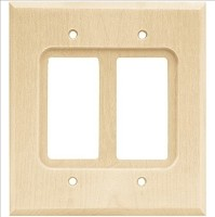 Franklin Brass W10400-UN-C Wood Square Double Decorator Wall Plate/Switch Plate/Cover, Unfinished Wood