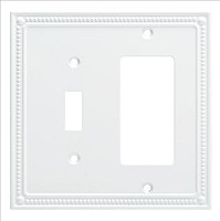 Franklin Brass W35063-PW-C Classic Beaded Switch/Decorator Wall Plate/Switch Plate/Cover, Pure White