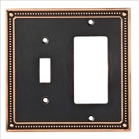 Franklin Brass W35063-VBC-SN-C Classic Beaded Switch/Decorator Wall Plate/Switch Plate/Cover, Bronze with Copper Highlights