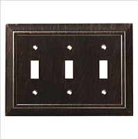 Franklin Brass W35225-VBR-C Classic Architecture Triple Switch Wall Plate/Switch Plate/Cover, Venetian Bronze