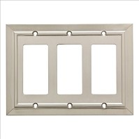 Franklin Brass W35226-SN-C Classic Architecture Triple Decorator Wall Plate/Switch Plate/Cover, Satin Nickel