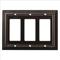 Franklin Brass W35226-VBR-C Classic Architecture Triple Decorator Wall Plate/Switch Plate/Cover, Venetian Bronze
