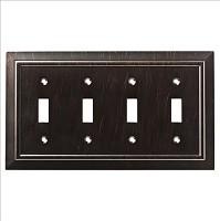 Franklin Brass W35227-VBR-C Classic Architecture Quad Switch Wall Plate/Switch Plate/Cover, Venetian Bronze