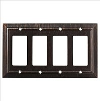 Franklin Brass W35228-VBR-C Classic Architecture Quad Decorator Wall Plate/Switch Plate/Cover, Venetian Bronze