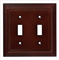 Franklin Brass W35244-ESO-C Classic Architecture Double Switch Wall Plate/Switch Plate/Cover, Espresso