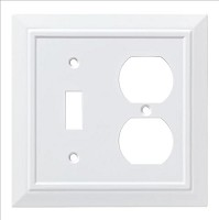 Franklin Brass W35245-PW-C Classic Architecture Switch/Duplex Wall Plate/Switch Plate/Cover, Pure White