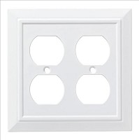 Franklin Brass W35247-PW-C Classic Architecture Double Duplex Wall Plate/Switch Plate/Cover, Pure White