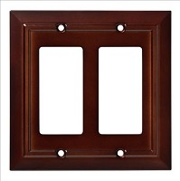 Franklin Brass W35248-ESO-C Classic Architecture Double Decorator Wall Plate/Switch Plate/Cover, Espresso