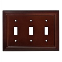 Franklin Brass W35249-ESO-C Classic Architecture Triple Switch Wall Plate/Switch Plate/Cover, Espresso