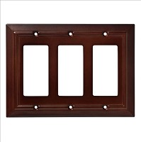 Franklin Brass W35250-ESO-C Classic Architecture Triple Decorator Wall Plate/Switch Plate/Cover, Espresso