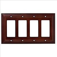 Franklin Brass W35252-ESO-C Classic Architecture Quad Decorator Wall Plate/Switch Plate/Cover, Espresso