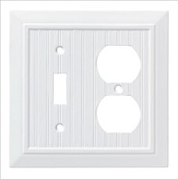 Franklin Brass W35269-PW-C Classic Beadboard Switch/Duplex Wall Plate/Switch Plate/Cover, Pure White