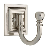 Brainerd 125560 Architectural Ball End Single Prong Hook, Satin Nickel