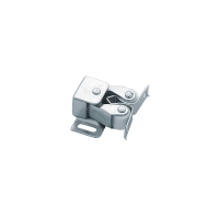 Liberty C08820L-UC-U Double Roller Catch with Spear Strike, Zinc Plated